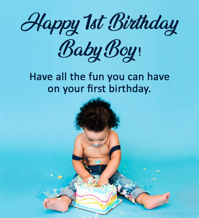 1st Birthday Wishes For Son Facebook thumbnail
