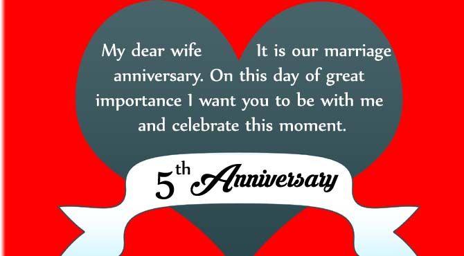 5 Wedding Anniversary Wishes Pinterest thumbnail