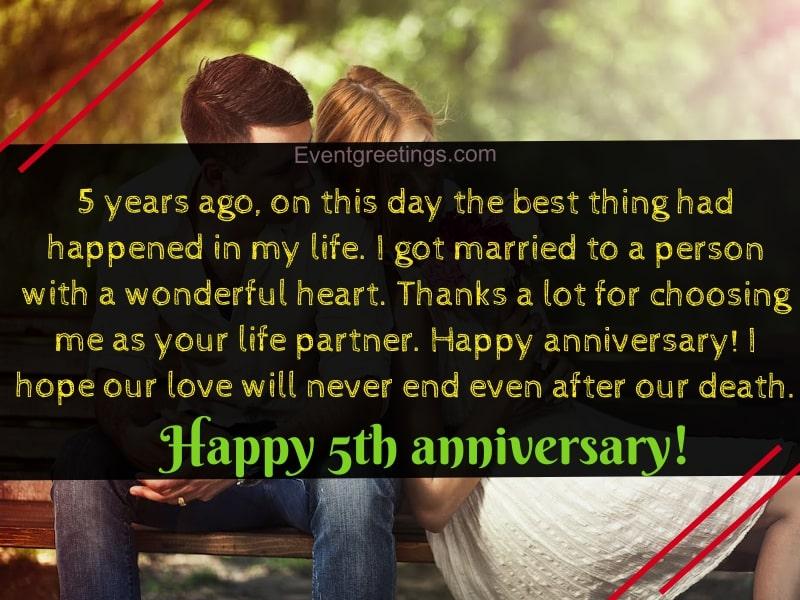 5 Year Anniversary Sayings Twitter thumbnail