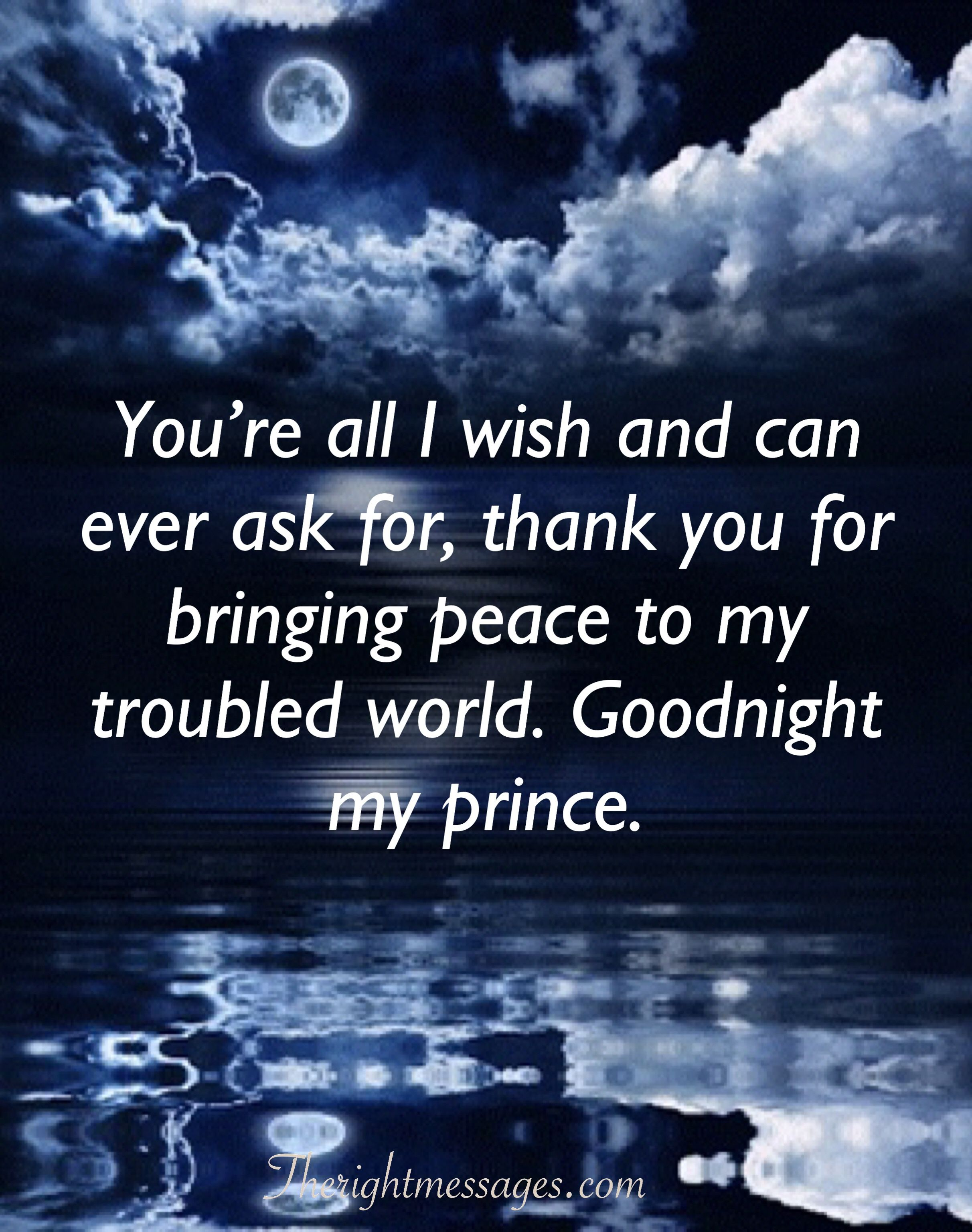A Sweet Good Night Message For Him Pinterest thumbnail