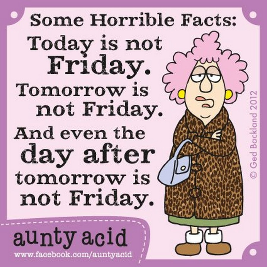Aunty Acid Friday Quotes Facebook thumbnail