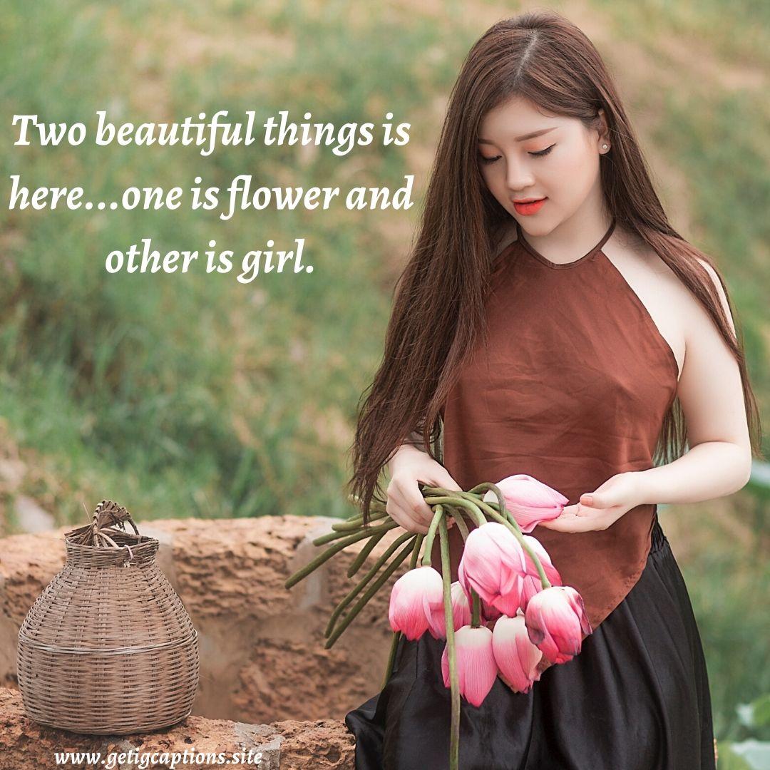 Beautiful Girl Caption For Instagram Tumblr thumbnail