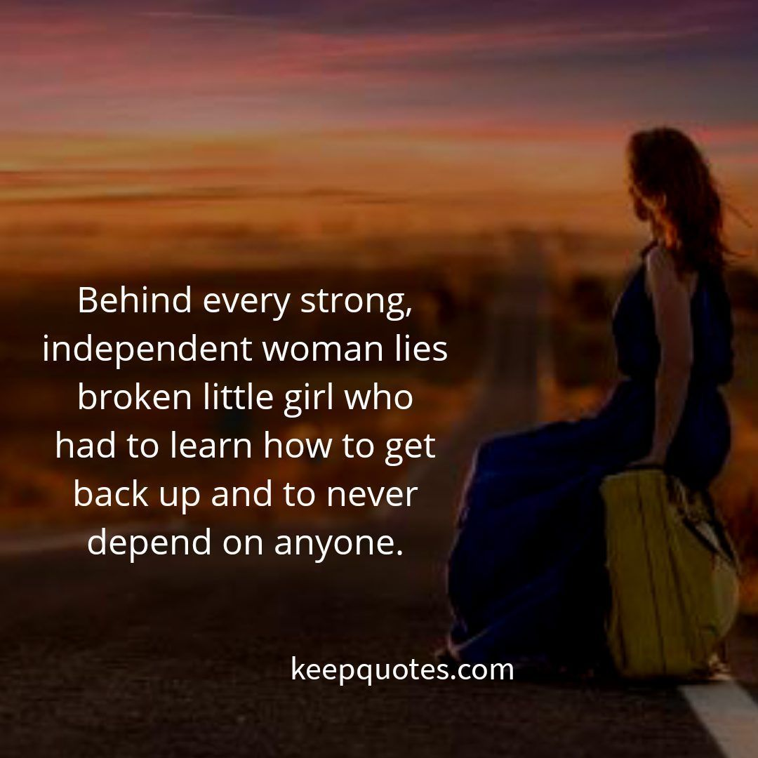 Behind Every Strong Woman Quote Tumblr thumbnail