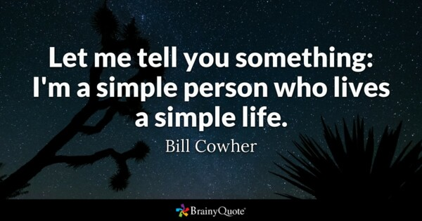 Being Simple Person Quotes thumbnail