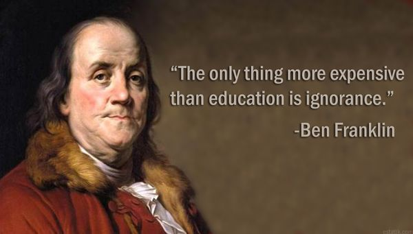 Benjamin Franklin Quotes On Education thumbnail