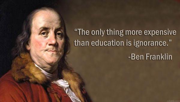Benjamin Franklin Quotes On Education thumbnail