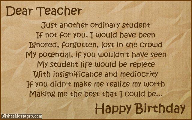 Birthday Poems For Teachers Pinterest thumbnail
