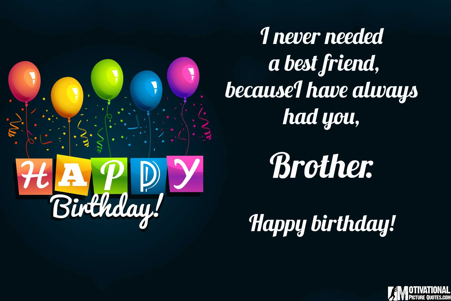 Birthday Quotation For Brother Tumblr thumbnail