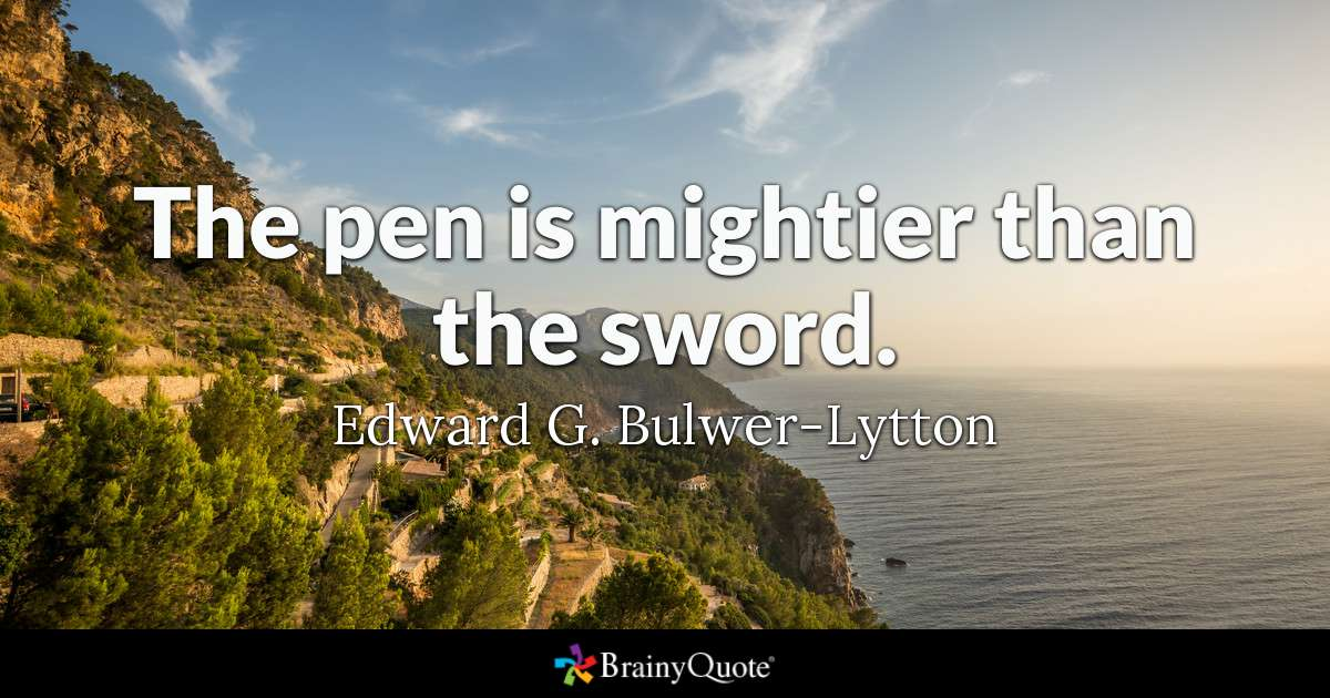Bulwer Lytton Quotes Twitter thumbnail