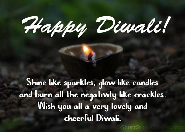Caption For Diwali Lights Facebook thumbnail