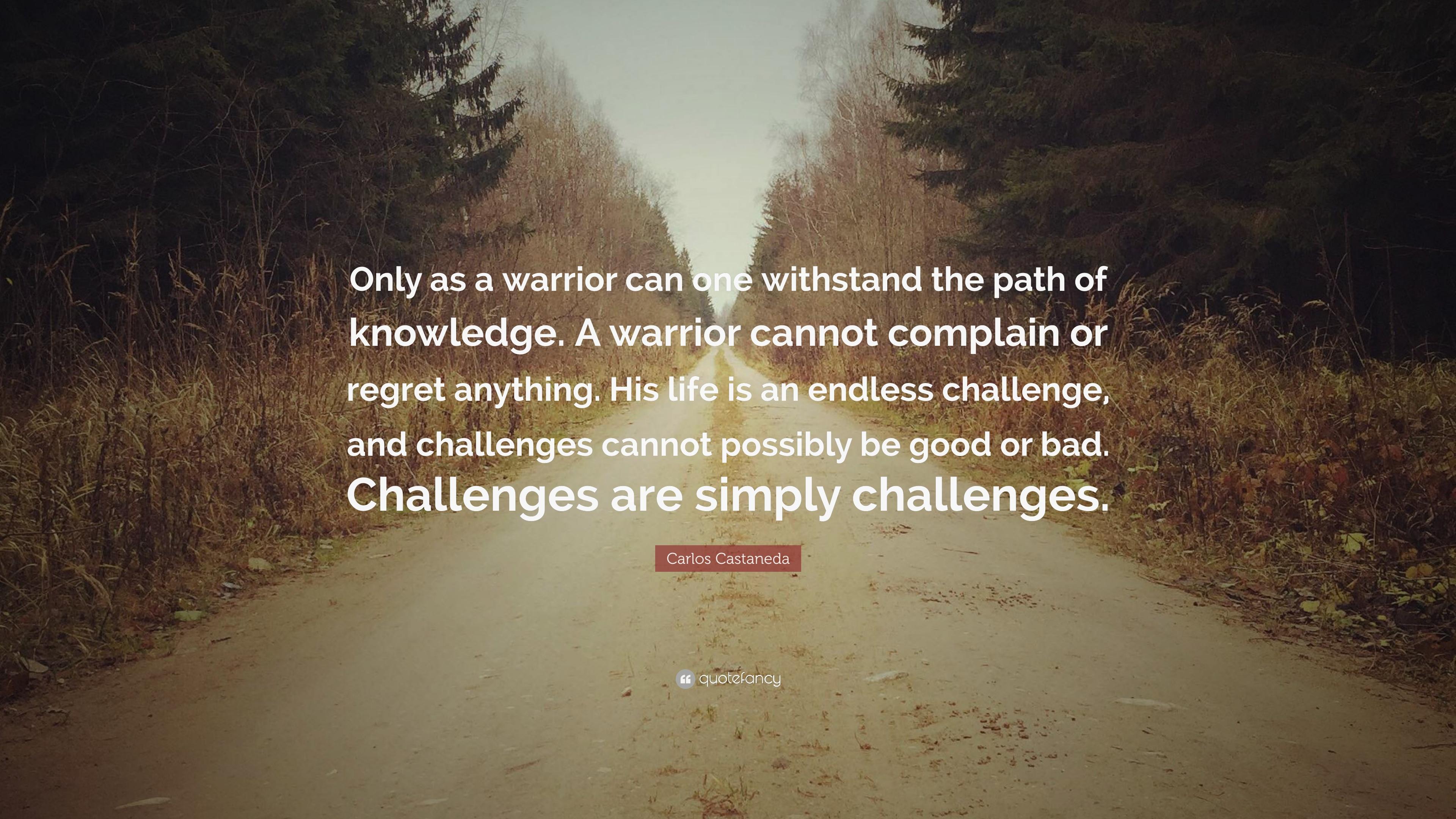 Carlos Castaneda Warrior Quotes Facebook thumbnail