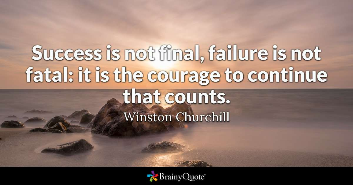 Churchill Quote Success Is Not Final Tumblr thumbnail