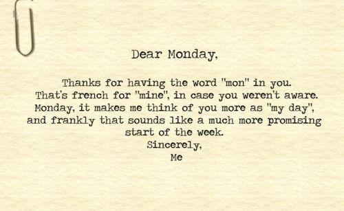 Dear Monday Quotes Twitter thumbnail