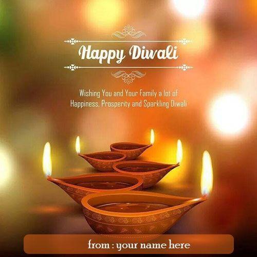 Diwali Name Wishes Pinterest thumbnail