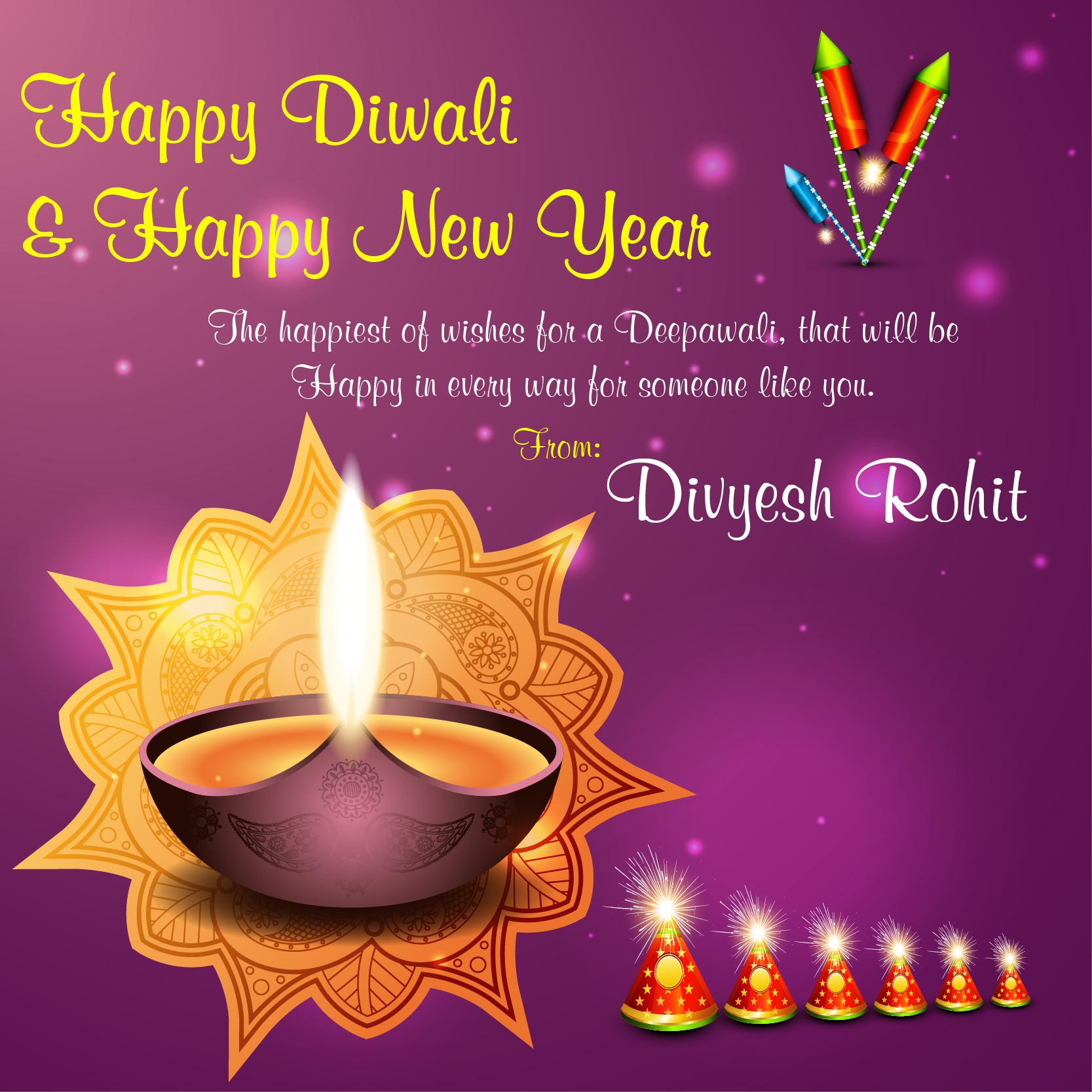 Diwali Wishes Personalised Twitter thumbnail