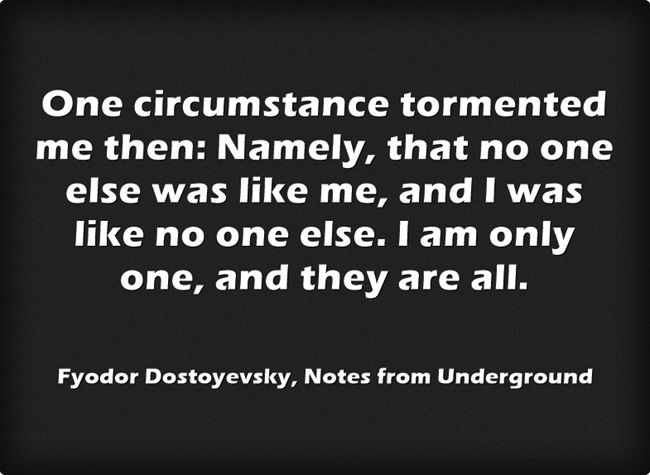 Dostoevsky Notes From Underground Quotes Twitter thumbnail