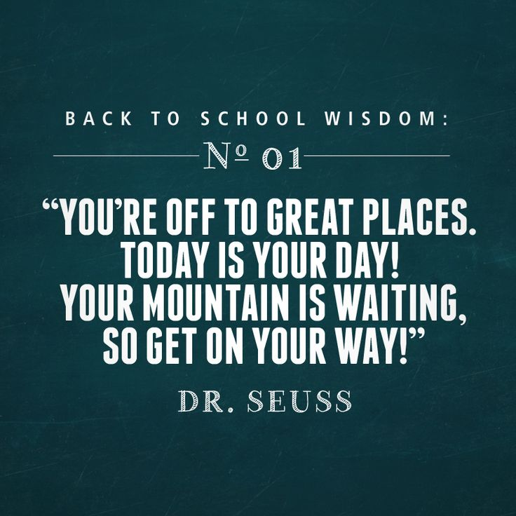 Dr Seuss Back To School Quotes Facebook thumbnail