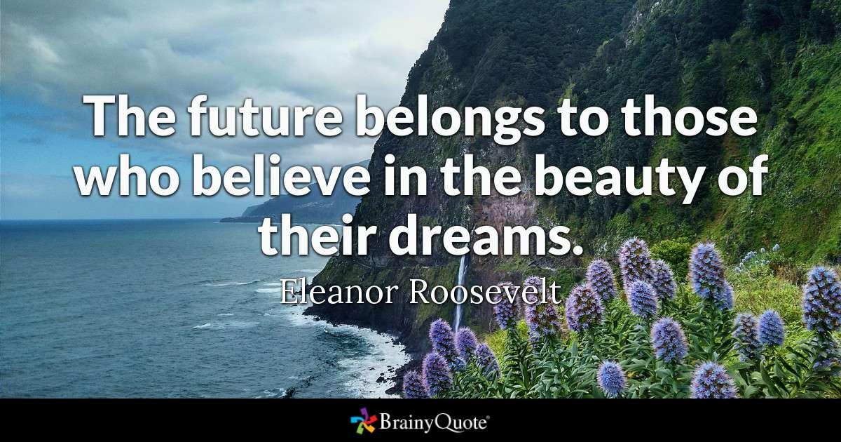 Eleanor Roosevelt Dream Quote Tumblr thumbnail
