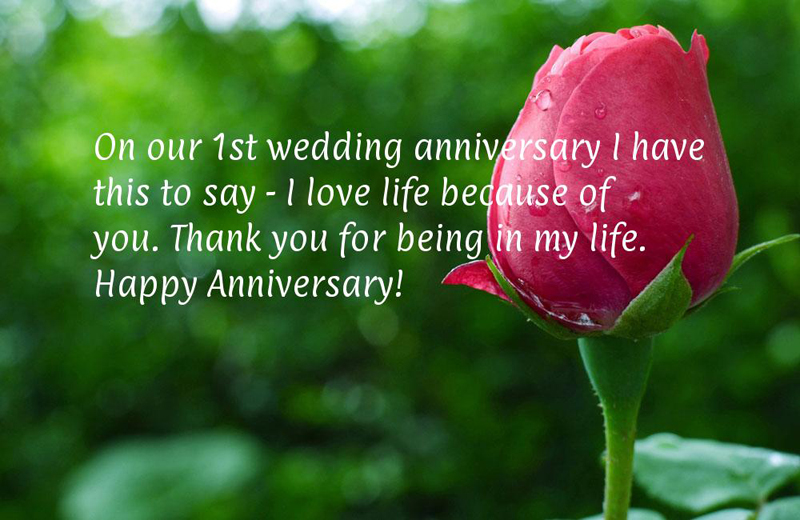 First Wedding Anniversary Message For Husband Facebook thumbnail