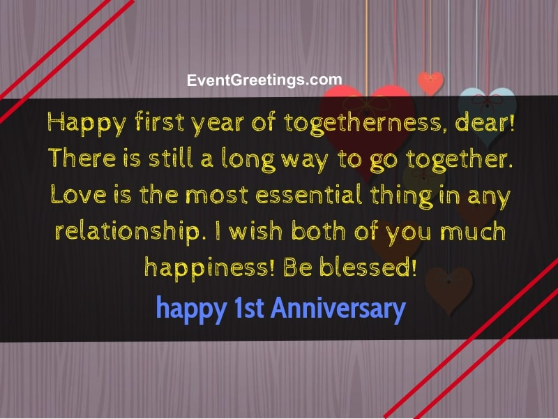First Year Anniversary Wishes Pinterest thumbnail