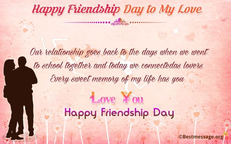 Friendship Day Wishes For Lover Facebook thumbnail