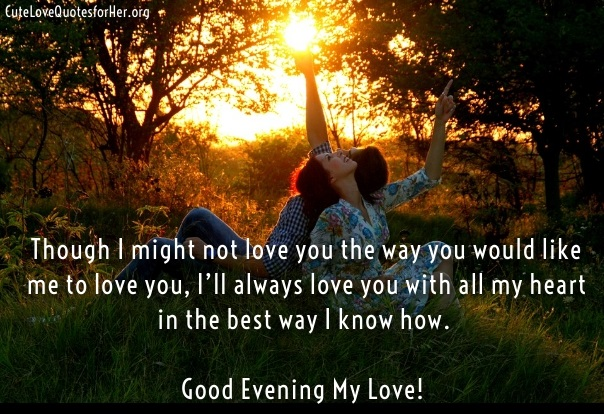 Good Evening Love Quotes Facebook thumbnail