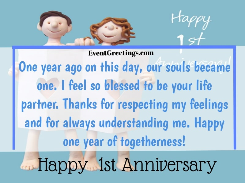 Happy 1 Year Anniversary Wishes Facebook thumbnail