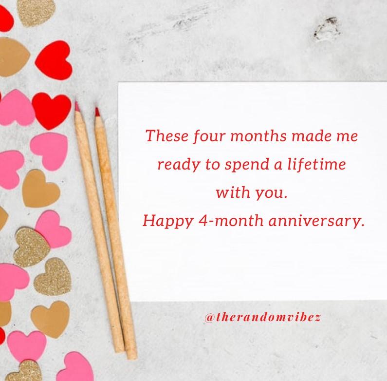 Happy 4th Month Anniversary Pinterest thumbnail