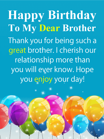 Happy Birthday My Dear Brother thumbnail