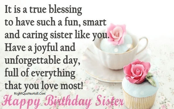 Happy Birthday Sms For Sister Facebook thumbnail