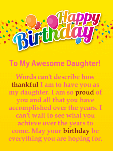 Happy Birthday To My Daughter Pinterest thumbnail