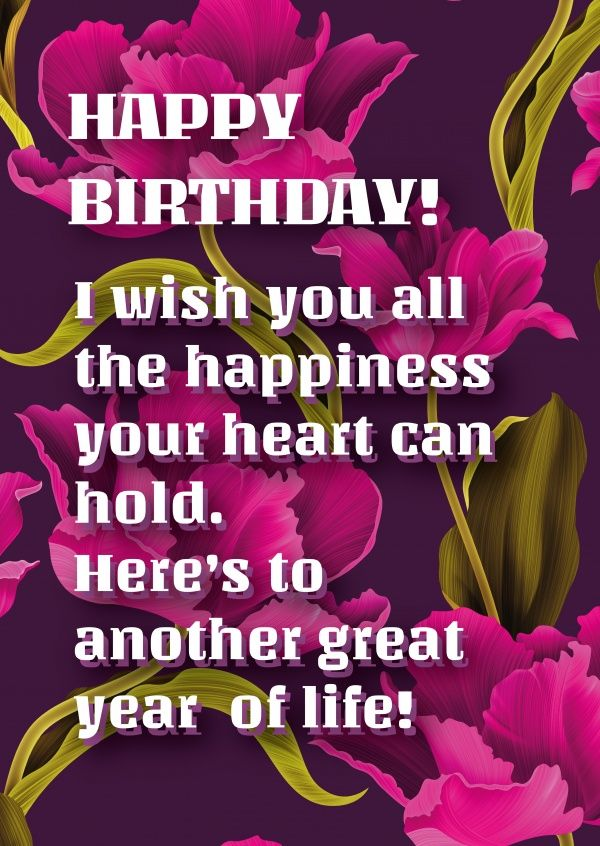 Happy Birthday Wish You All The Best And Happiness Pinterest thumbnail