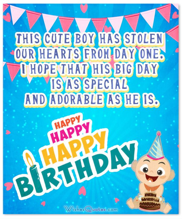 Happy Birthday Wishes For Baby Boy Facebook thumbnail