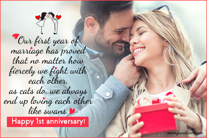 Happy First Marriage Anniversary Wishes Facebook thumbnail