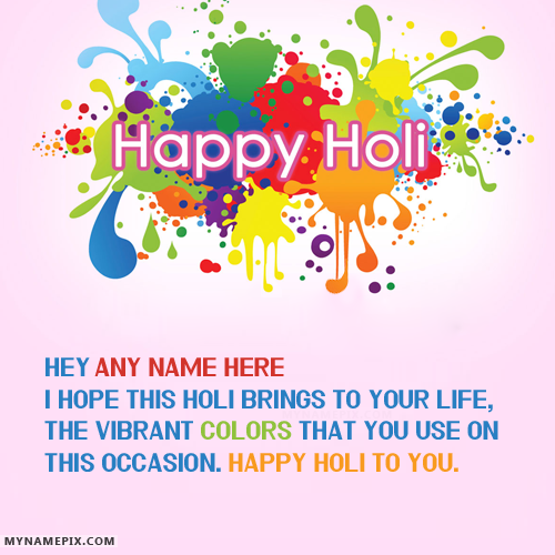 Happy Holi Wishes With Name Facebook thumbnail