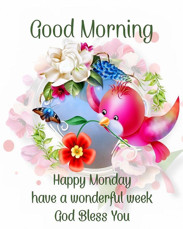Happy Monday Good Morning Wishes Pinterest thumbnail