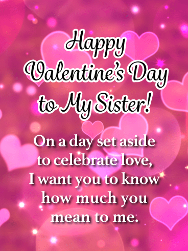 Happy Valentines Day Images Sister Facebook thumbnail