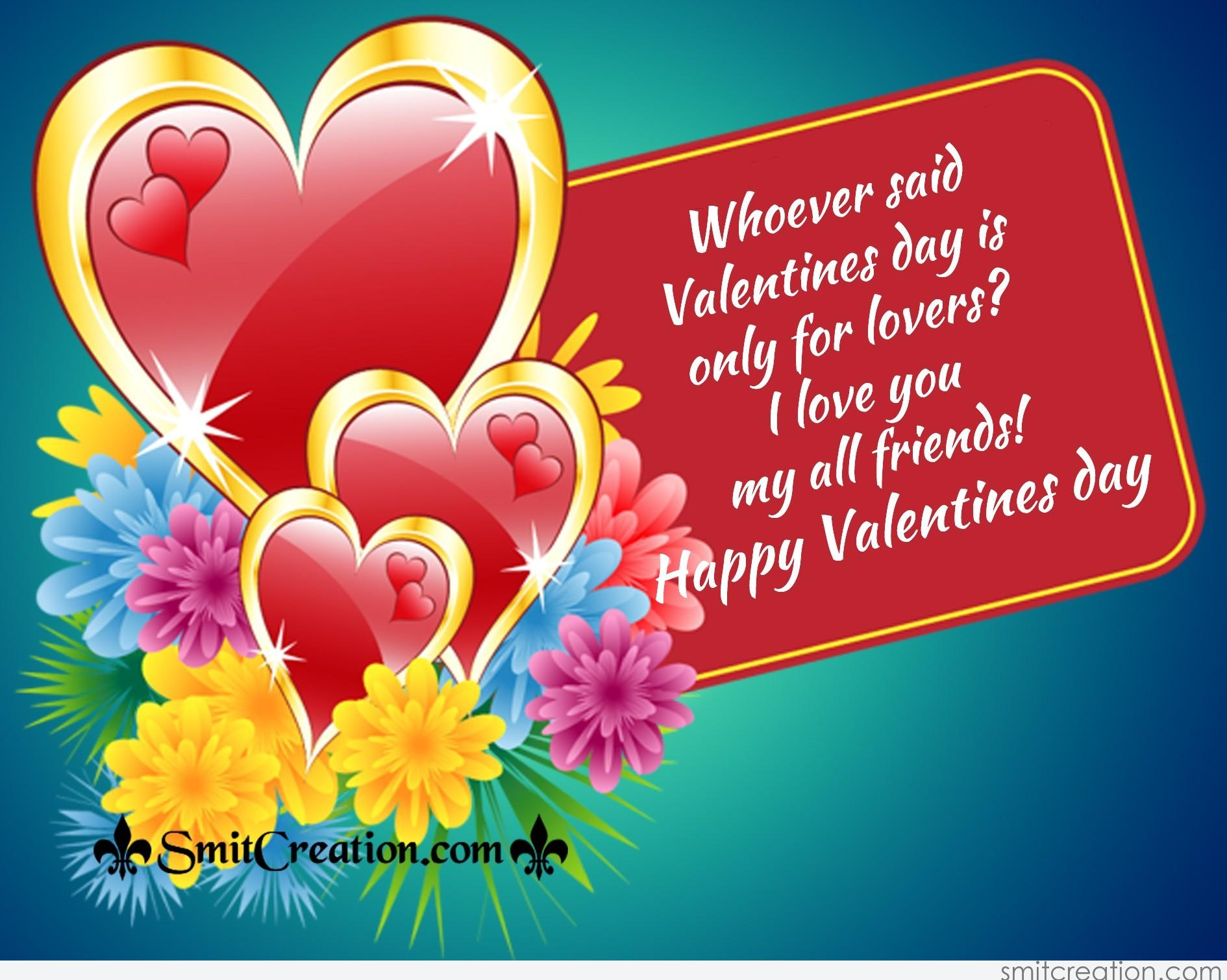 Happy Valentines Day My Dear Friend Facebook thumbnail