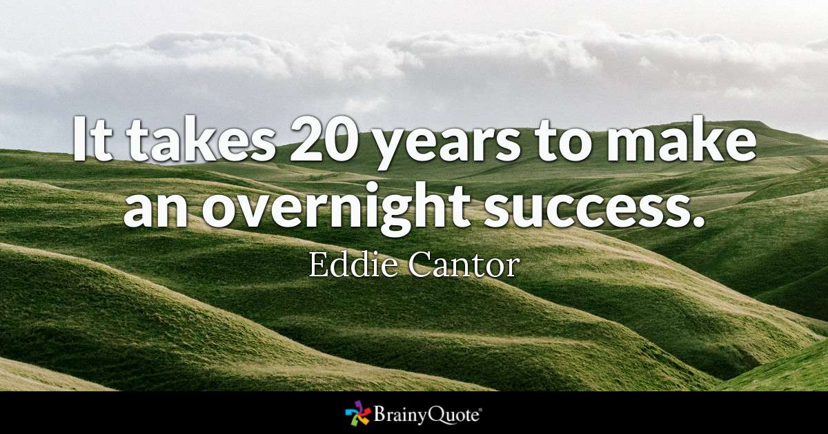It Takes 20 Years To Make An Overnight Success Twitter thumbnail
