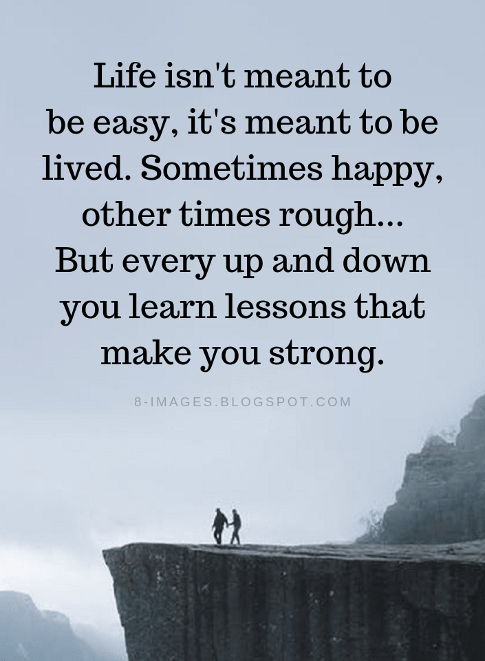 Life Is Not Easy Quotes Facebook thumbnail