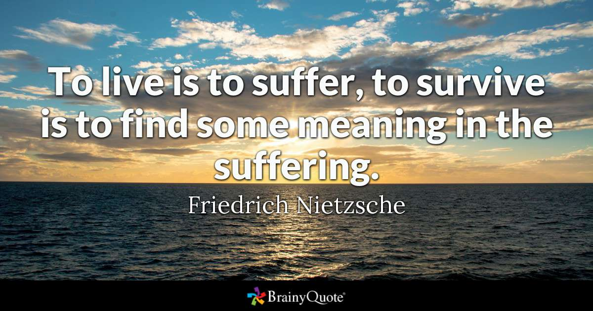 Life Is Suffering Quote thumbnail