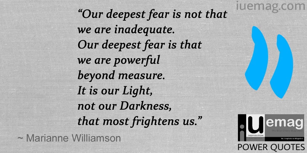 Marianne Williamson Fear Quote Pinterest thumbnail