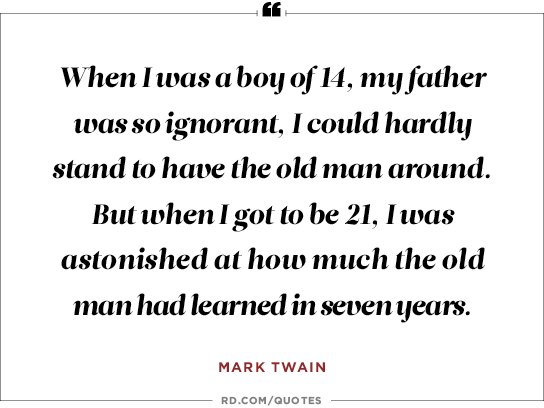 Mark Twain Dad Quote thumbnail