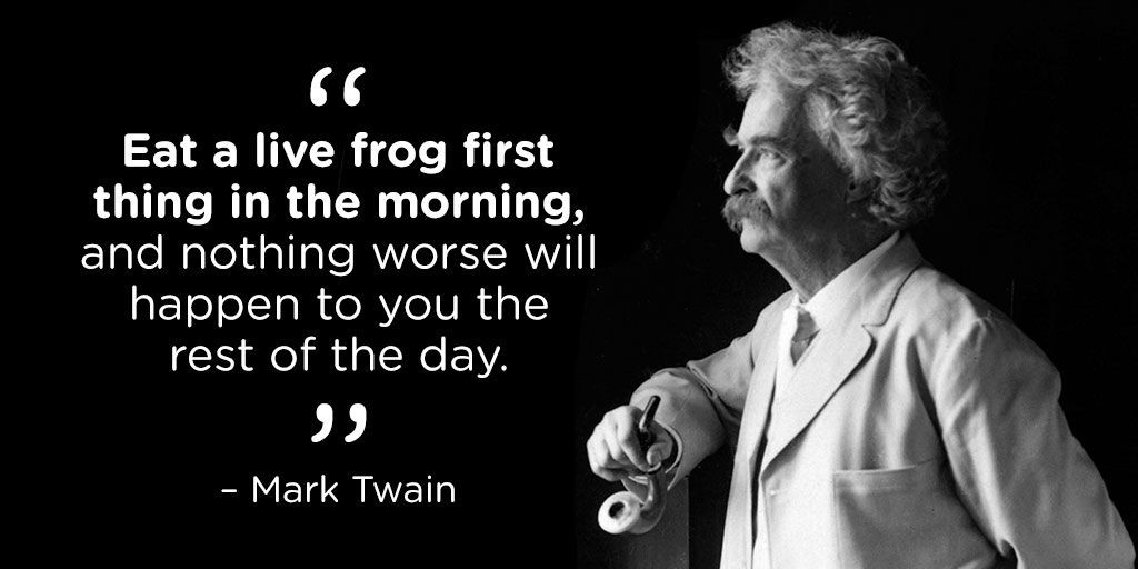 Mark Twain Frog Quote Pinterest thumbnail