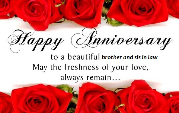 Marriage Anniversary Wishes To Brother And Sister In Law thumbnail