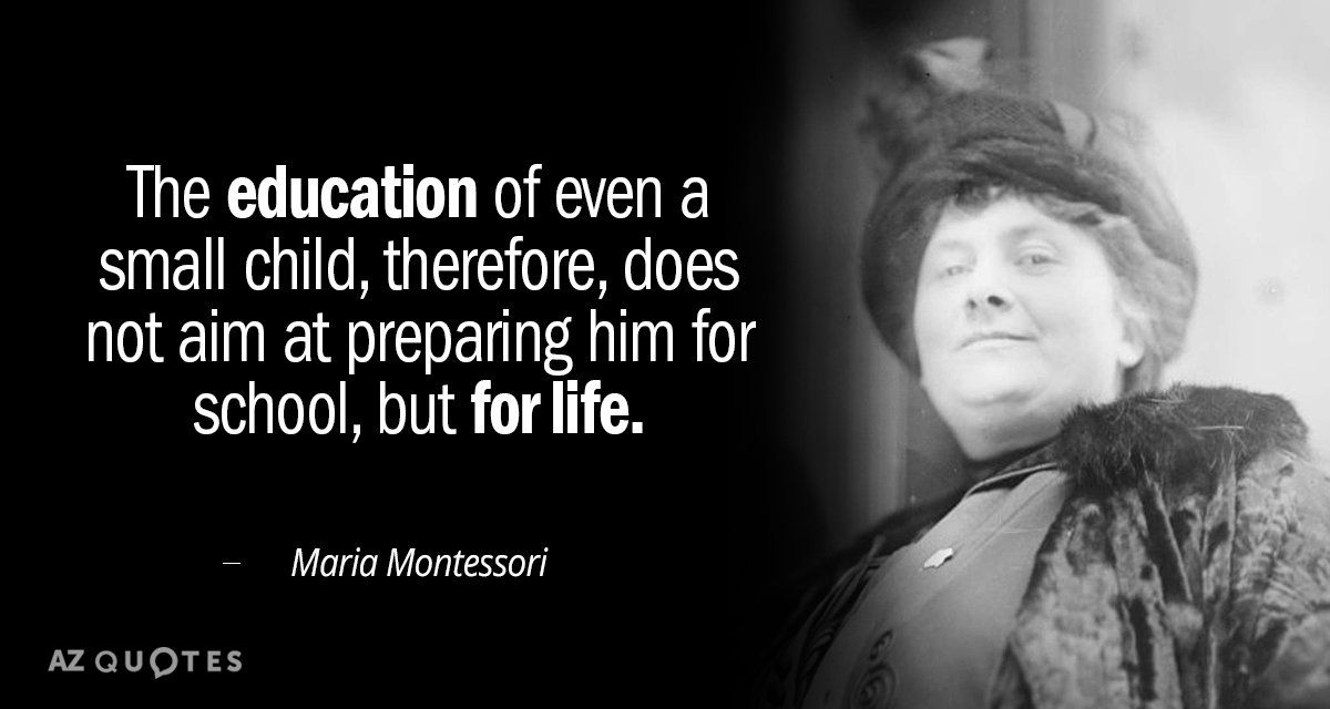 Montessori Quotes On Education Facebook thumbnail