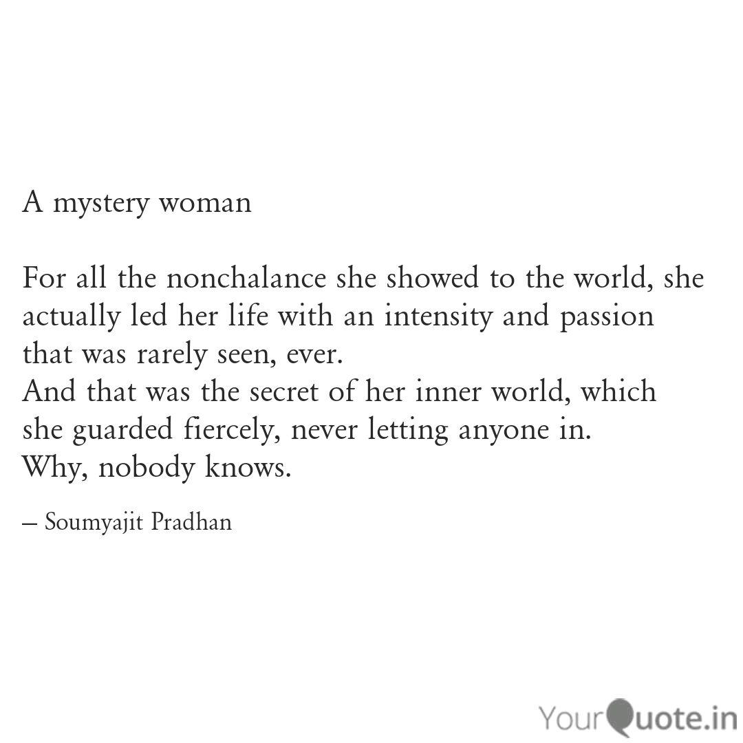 Mysterious Woman Quotes Facebook thumbnail