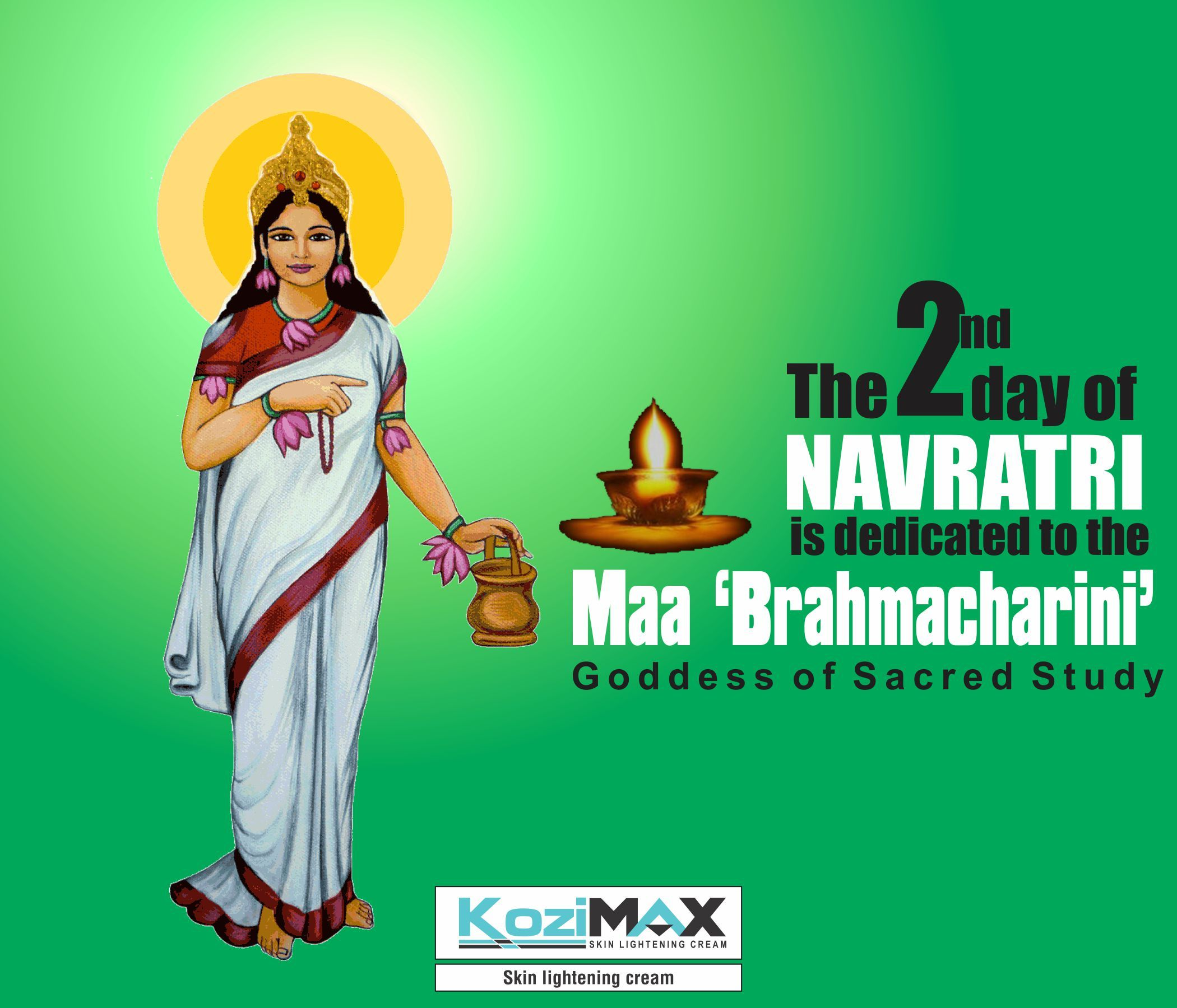 Navratri 2nd Day Wishes Twitter thumbnail