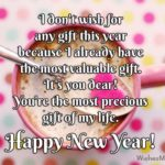 New Year Wishes To Hubby