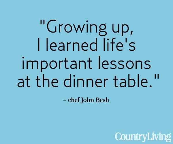 Quotes About Family Dinner Table Pinterest thumbnail